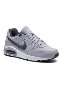 Szare półbuty Nike eleganckie, na co dzień, z cholewką