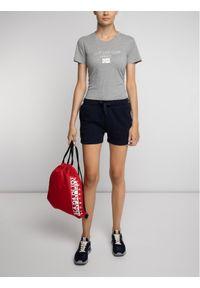 Napapijri T-Shirt Sonthe W N0YIKR Szary Regular Fit. Kolor: szary
