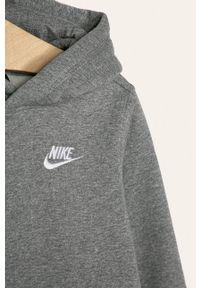Szara bluza Nike Kids na co dzień, casualowa, z kapturem