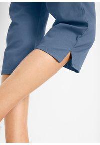 Rybaczki ze stretchem z wygodnym paskiem w talii bonprix indygo. Kolor: niebieski. Wzór: haft