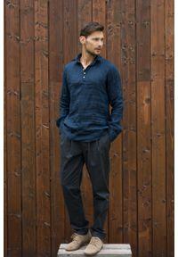 VEVA - Spodnie męskie Cozy Whisper grafitowe. Okazja: na co dzień. Kolor: biały, szary. Materiał: materiał. Długość rękawa: krótki rękaw. Wzór: aplikacja. Styl: casual