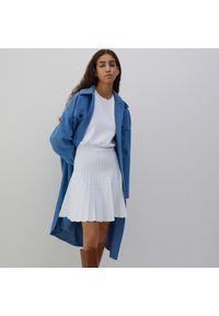 Reserved - Dzianinowa sukienka mini - Kremowy. Kolor: kremowy. Materiał: dzianina. Długość: mini