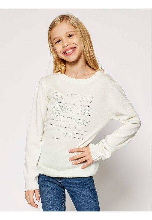 Guess Sweter J0BR01 Z2PM0 Biały Regular Fit. Kolor: biały