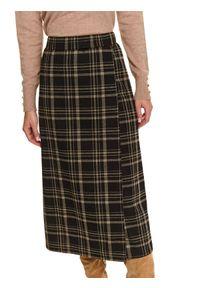 TOP SECRET - Ołówkowa spódnica w kratę. Kolor: czarny