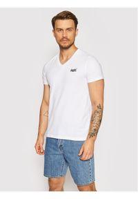 Superdry T-Shirt Ol Classic Vee Tee M1010209A Biały Regular Fit. Kolor: biały