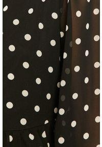 Czarna sukienka Jacqueline de Yong maxi, rozkloszowana, z długim rękawem