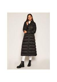 Czarny płaszcz zimowy My Twin