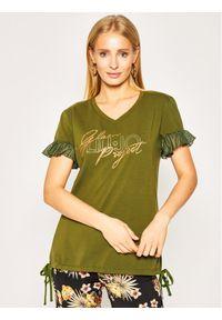 Zielony t-shirt Liu Jo Sport sportowy