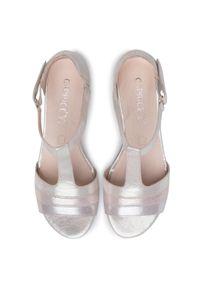 Złote sandały Caprice casualowe, na co dzień