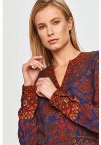 Wielokolorowa bluzka Desigual z długim rękawem, na co dzień