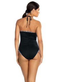 Czarny strój kąpielowy Lorin gładki