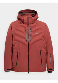 4f - Kurtka narciarska membrana 15 000 męska. Typ kołnierza: kaptur. Kolor: czerwony. Materiał: mesh, materiał, poliester. Sezon: zima. Sport: narciarstwo