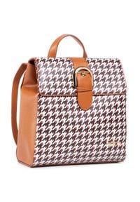 Nobo - Plecak NOBO - NBAG-J0600-CM17 Brązowy Kolorowy. Kolor: brązowy. Materiał: skóra. Wzór: kolorowy. Styl: elegancki, sportowy, casual