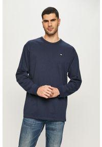 Niebieska koszulka z długim rękawem Vans casualowa, na co dzień