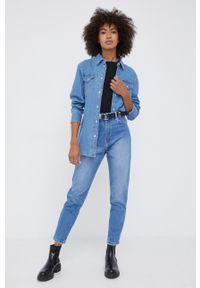 Wrangler - Koszula bawełniana jeansowa. Kolor: niebieski. Materiał: bawełna, jeans. Długość rękawa: długi rękaw. Długość: długie