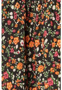 Czarna sukienka Haily's z długim rękawem, mini, prosta, w kwiaty