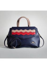 Wittchen - Torebka damska. Kolor: niebieski, czerwony, wielokolorowy. Wzór: gładki, kolorowy. Materiał: skórzane. Styl: vintage