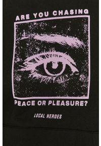 Czarna bluza Local Heroes z kapturem, długa