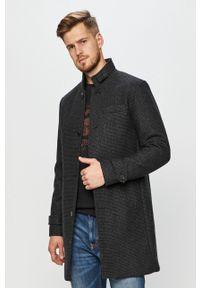 Szary płaszcz Premium by Jack&Jones casualowy, na co dzień