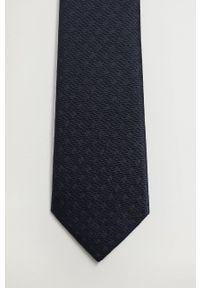 Mango Man - Krawat BASIC7. Kolor: niebieski. Materiał: materiał. Wzór: gładki