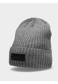 Szara czapka zimowa 4f