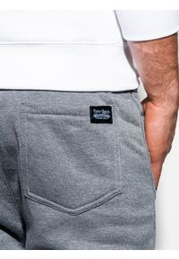 Ombre Clothing - Spodnie męskie dresowe joggery P867 - szare - XXL. Kolor: szary. Materiał: dresówka #4
