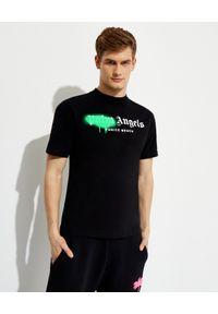 PALM ANGELS - Bawełniana koszulka z graficznym nadrukiem. Kolor: czarny. Materiał: bawełna. Wzór: nadruk. Styl: klasyczny