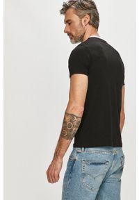 Karl Lagerfeld - T-shirt. Okazja: na co dzień. Kolor: czarny. Materiał: dzianina. Wzór: nadruk. Styl: casual