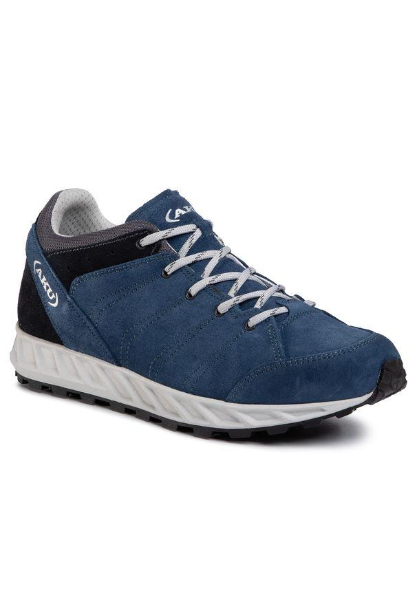 Niebieskie buty trekkingowe Aku z cholewką, trekkingowe