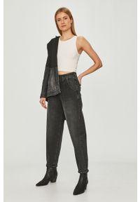 Szare jeansy loose fit Mustang z podwyższonym stanem