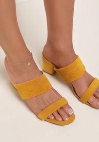 Renee - Żółte Klapki Mystoche. Kolor: żółty