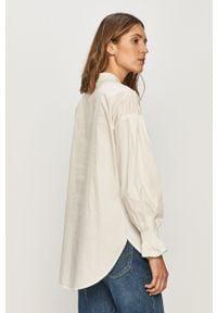 Biała koszula Vila z klasycznym kołnierzykiem, długa, z długim rękawem