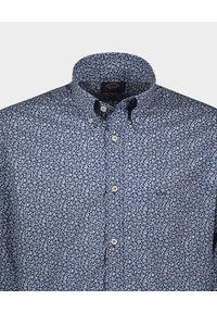 PAUL & SHARK - Granatowa koszula z printem. Okazja: na co dzień. Kolor: niebieski. Materiał: bawełna. Wzór: nadruk. Styl: casual