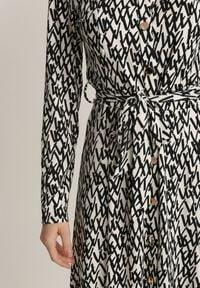 Renee - Biała Sukienka Kisanise. Kolor: biały. Materiał: materiał. Wzór: jednolity. Typ sukienki: proste, koszulowe. Styl: elegancki. Długość: maxi