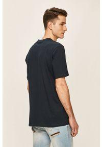 Niebieski t-shirt Element z nadrukiem