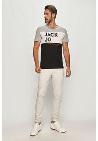 Szary t-shirt Jack & Jones casualowy, na co dzień