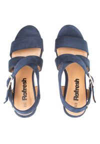 Refresh - Espadryle REFRESH - 72735 Navy. Okazja: na co dzień. Kolor: niebieski. Materiał: materiał. Sezon: lato. Styl: casual #4