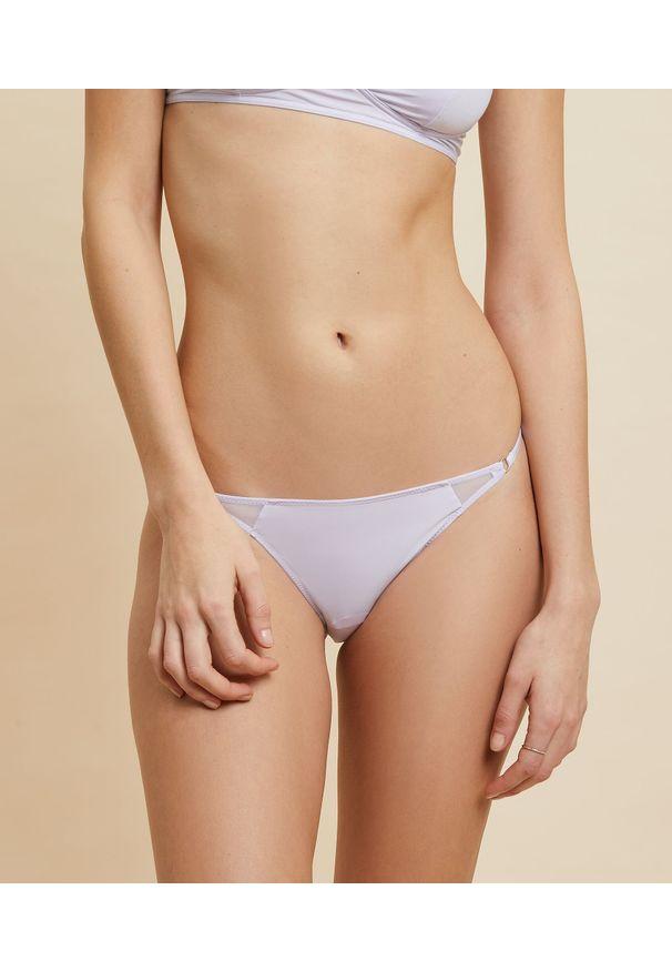 Joyau Bikini Z Mikrofibry I Koronki - 40 - Lilowy - Etam. Materiał: mikrofibra, koronka. Wzór: koronka