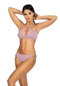 Fioletowy strój kąpielowy dwuczęściowy Lorin gładki