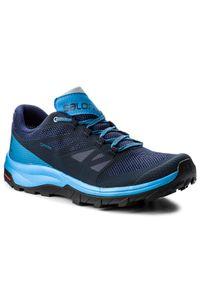 Niebieskie buty trekkingowe salomon trekkingowe, Gore-Tex, z cholewką