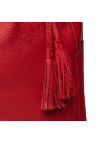 Czerwona torebka klasyczna Ara klasyczna, skórzana
