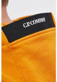 C.P. Company - Bluza bawełniana. Okazja: na co dzień. Kolor: pomarańczowy. Materiał: bawełna. Styl: casual