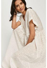 Biała sukienka Levi's® na co dzień, gładkie