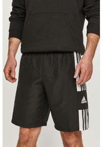 Czarne szorty adidas Performance na co dzień, sportowe, gładkie