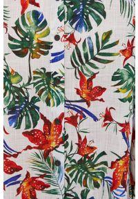 medicine - Medicine - Koszula Tropical Chaos. Okazja: na co dzień. Kolor: biały. Materiał: tkanina. Długość rękawa: długi rękaw. Długość: długie. Styl: casual