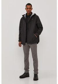 Wrangler - Spodnie ATG. Kolor: szary. Materiał: tkanina. Wzór: gładki