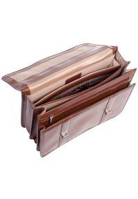 Teczka na laptopa MCKLEIN Flournoy 15.6 cali Brązowy. Kolor: brązowy. Materiał: skóra. Styl: elegancki
