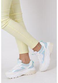 Casu - Białe buty sportowe sneakersy sznurowane casu 7-k662c. Kolor: biały. Materiał: skóra ekologiczna, materiał. Szerokość cholewki: normalna