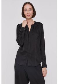 BOSS - Boss - Koszula. Okazja: na co dzień. Kolor: czarny. Materiał: tkanina. Długość rękawa: długi rękaw. Długość: długie. Wzór: gładki. Styl: casual