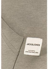 Szara bluza nierozpinana Jack & Jones gładkie, z kapturem